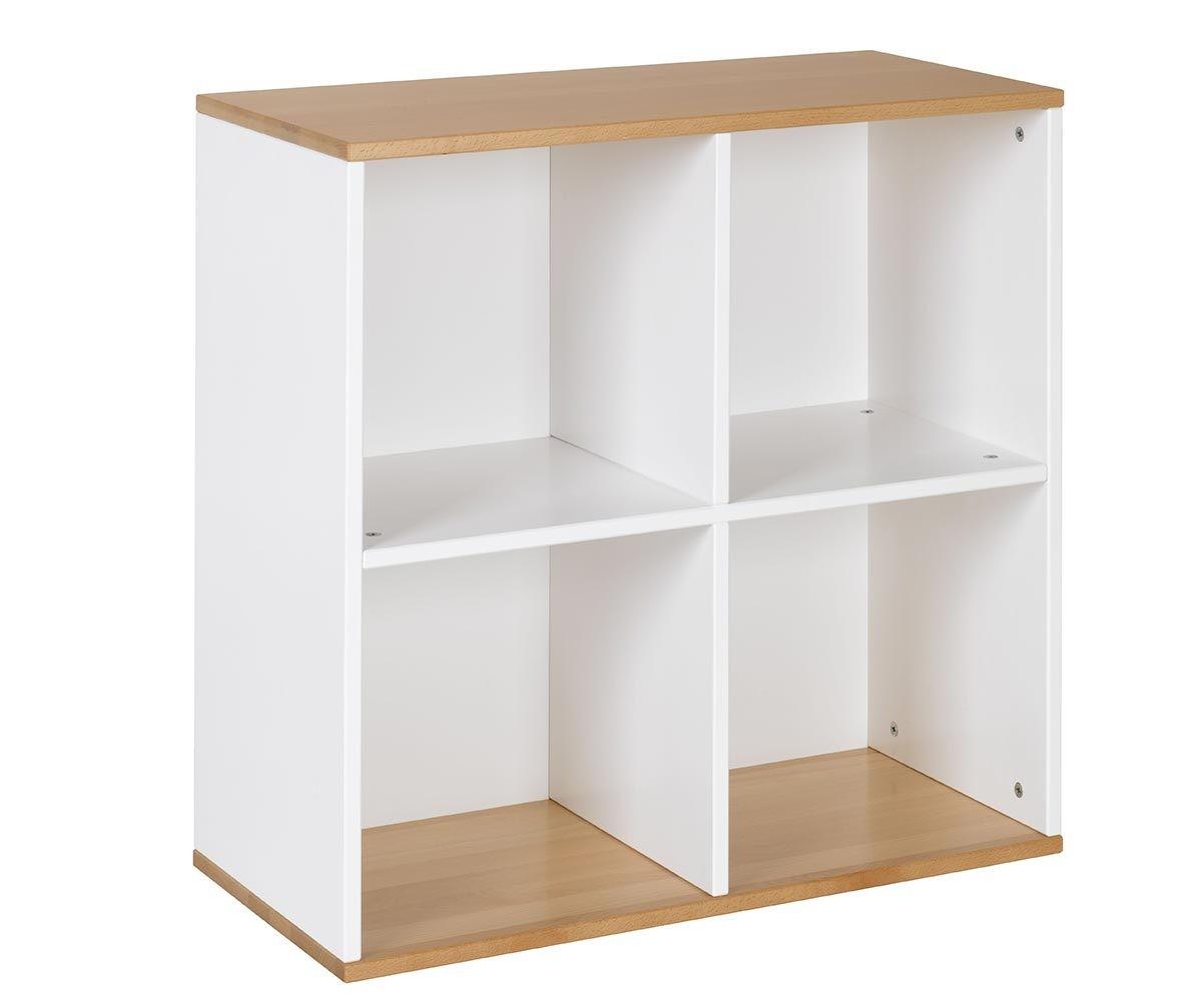 meuble de rangement 4 cases gris anthracite et htre