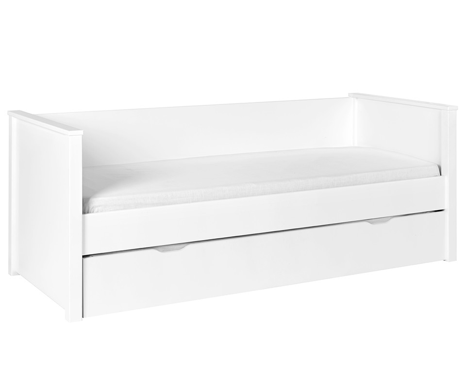 Lit gigogne nova blanc 80x200 cm achat mobilier bois - Destockage lit enfant ...