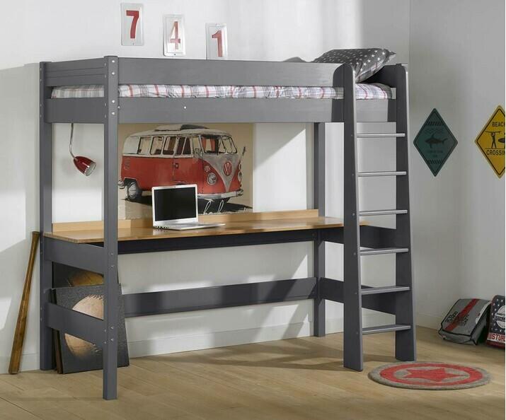 Bureau En Mezzanine : Le bureau pour lit mezzanine enfant clay en bois massif made in france