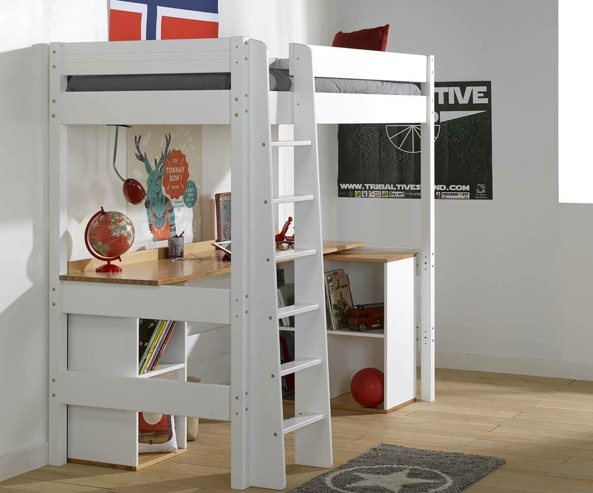 Le bureau pour lit mezzanine enfant clay en bois massif made in france