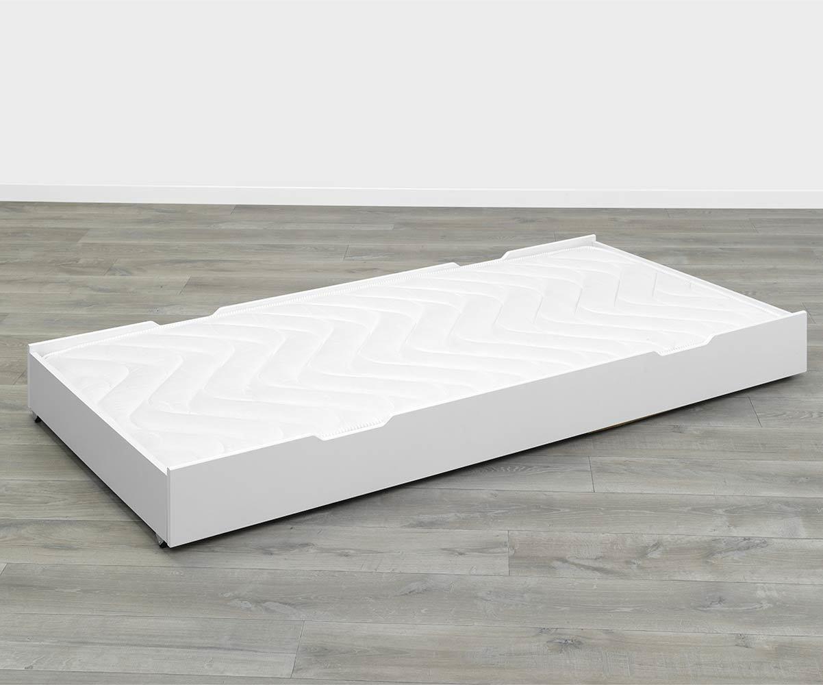 tiroir de lit eco bio blanc 90x190 cm. Black Bedroom Furniture Sets. Home Design Ideas