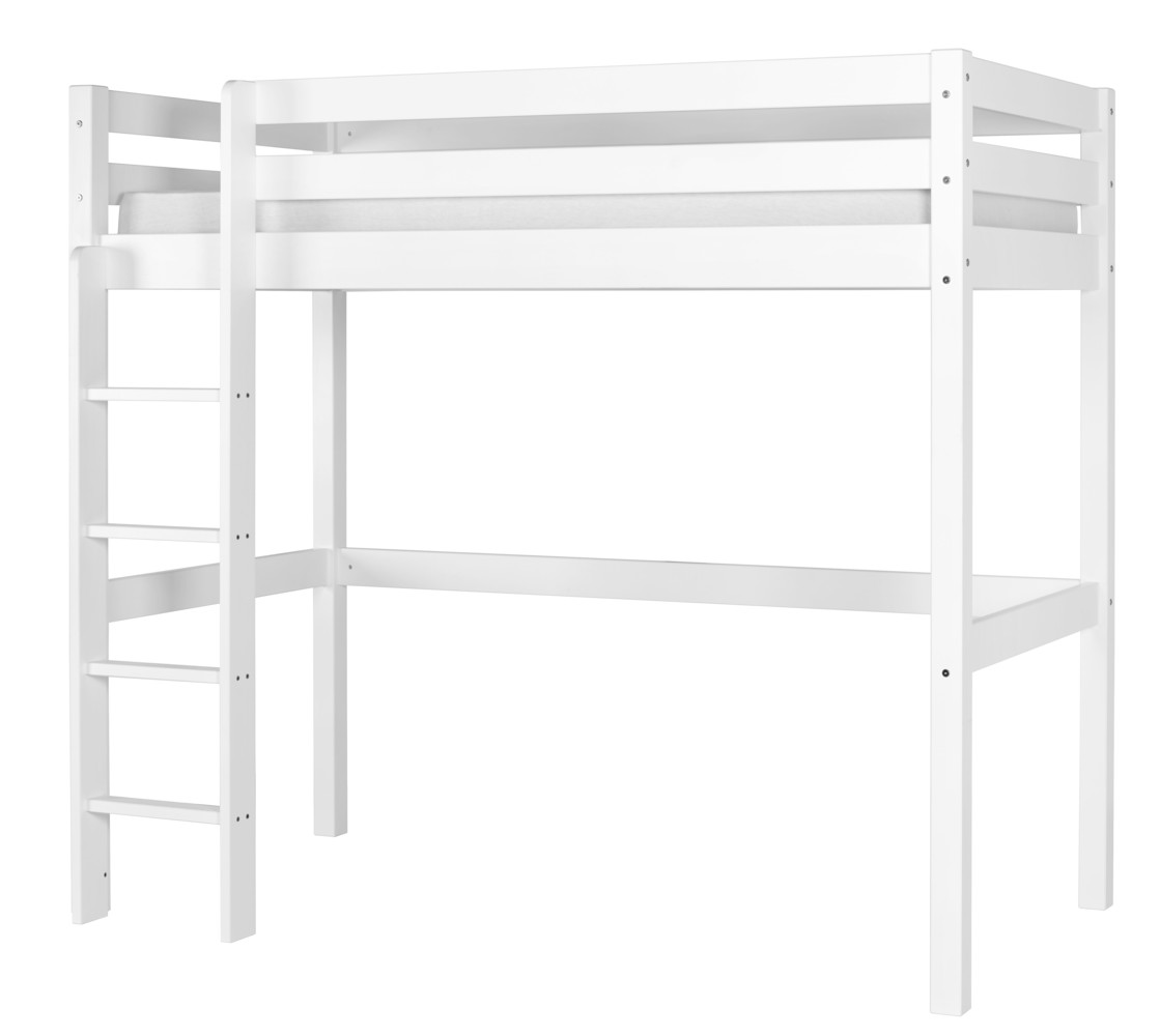 lit enfant mezzanine cargo blanc 90x190 cm. Black Bedroom Furniture Sets. Home Design Ideas
