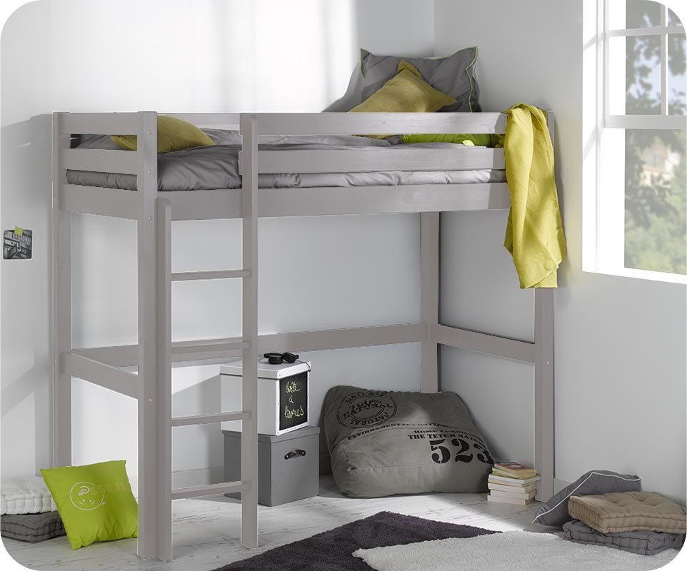 lit enfant mezzanine cargo lin 90x190 cm. Black Bedroom Furniture Sets. Home Design Ideas