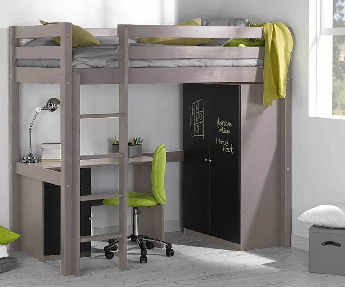 pack lit enfant mezzanine cargo blanc 90x190 cm. Black Bedroom Furniture Sets. Home Design Ideas