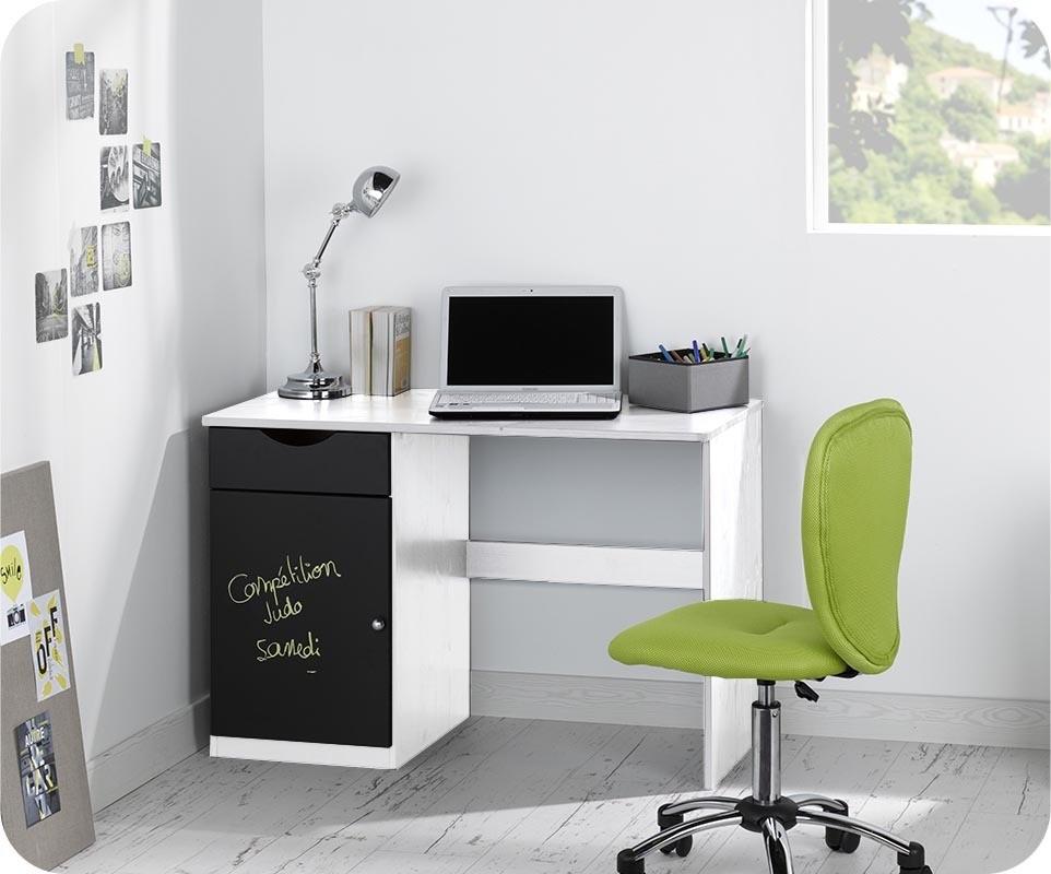 Bureau enfant cargo blanc mobilier ecologique et gain de for Bureau enfant gain de place