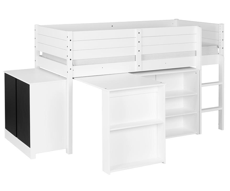 set lit enfant mi hauteur tamis blanc. Black Bedroom Furniture Sets. Home Design Ideas