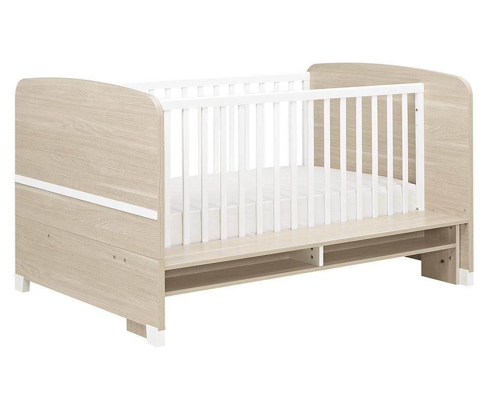 lit b b volutif nola bois et blanc. Black Bedroom Furniture Sets. Home Design Ideas