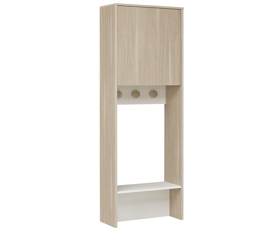 vestiaire nola bois et blanc. Black Bedroom Furniture Sets. Home Design Ideas