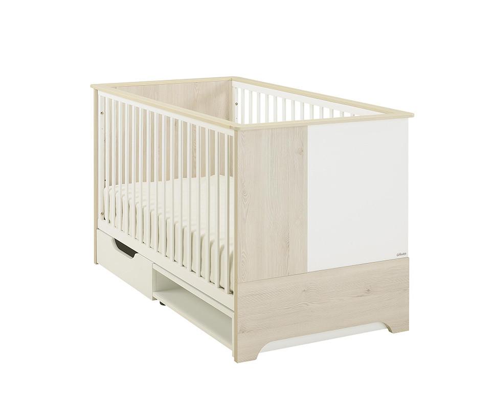 lit b b volutif lili bois et blanc. Black Bedroom Furniture Sets. Home Design Ideas