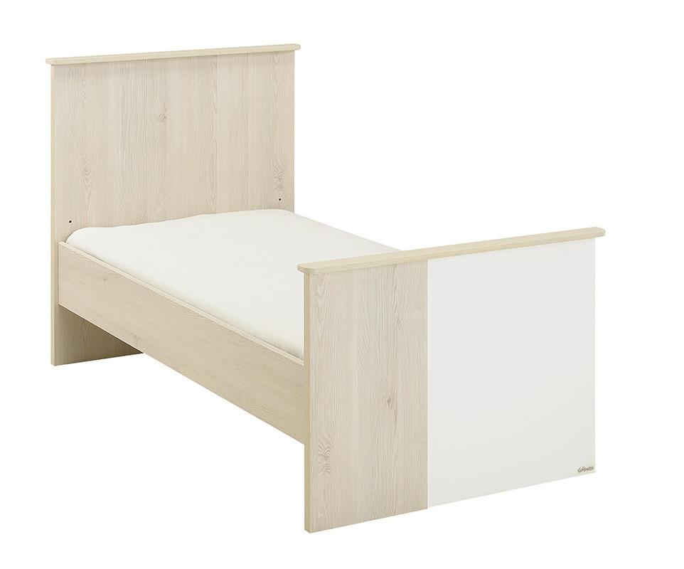 lit b b volutif lili bois et blanc avec matelas b b. Black Bedroom Furniture Sets. Home Design Ideas