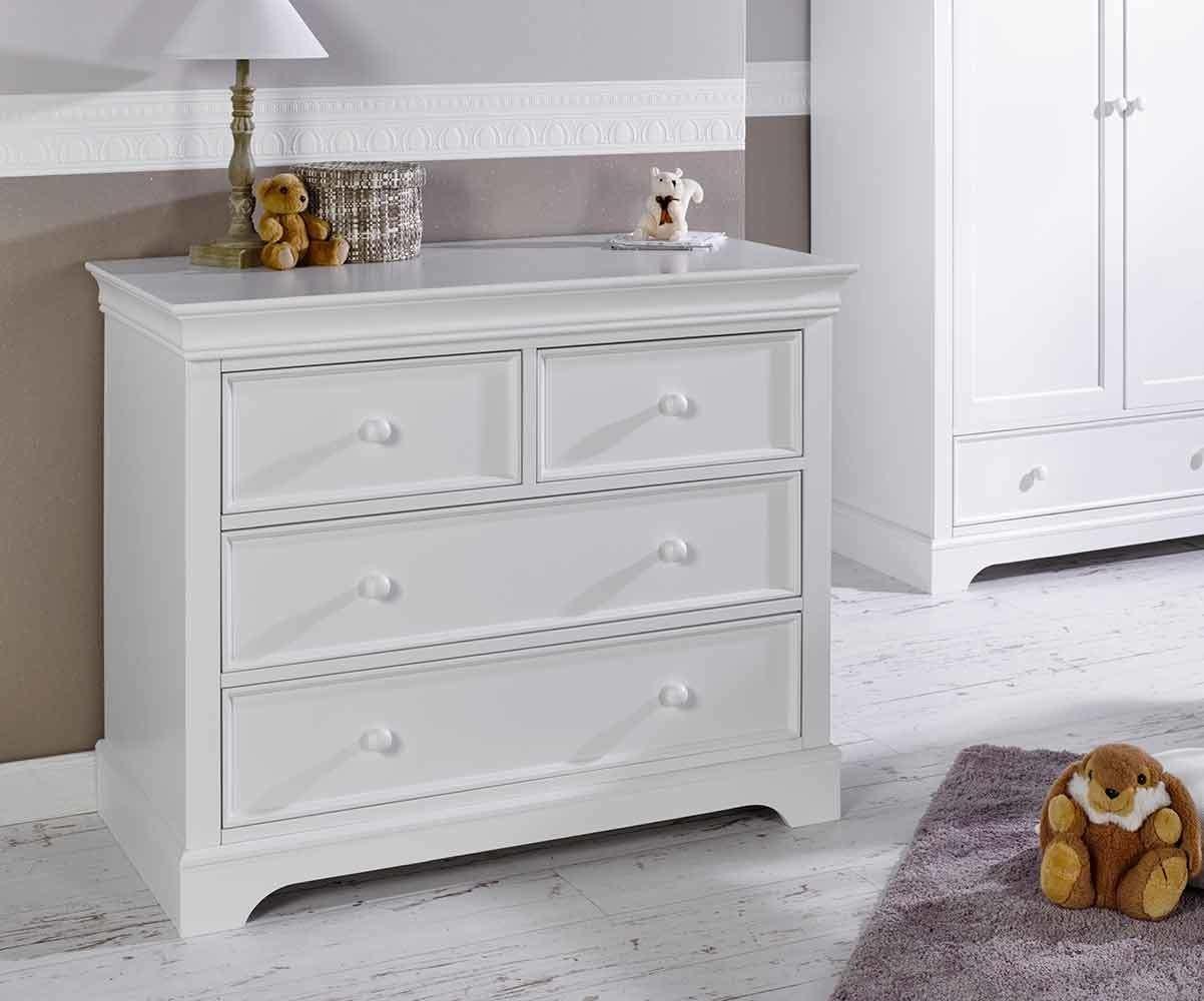 commode enfant mel blanche. Black Bedroom Furniture Sets. Home Design Ideas