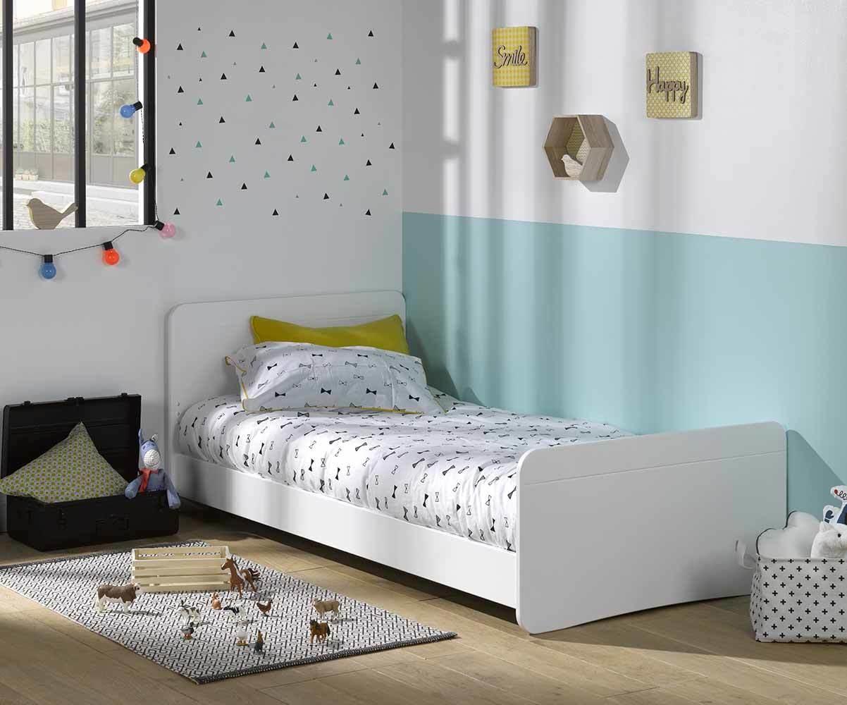 Pack lit enfant evolutif willow blanc avec tiroir et matelas for Tapis chambre enfant avec matelas palacio avis
