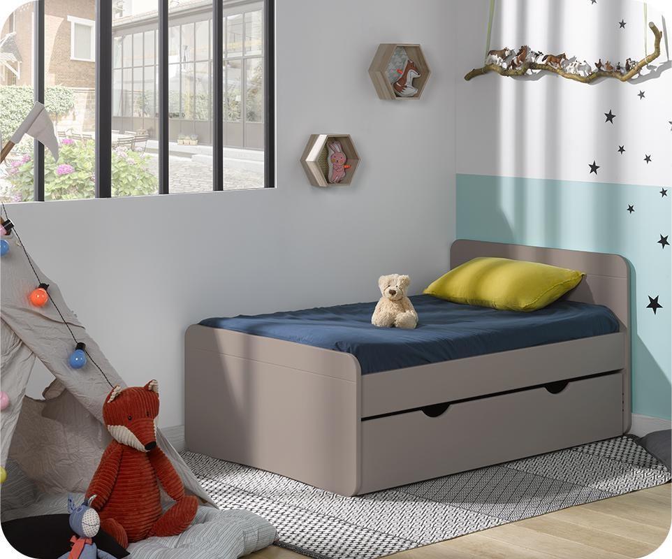 lit enfant volutif willow 90x140 cmlin avec tiroir et matelas - Lit Enfant Avec Tiroir