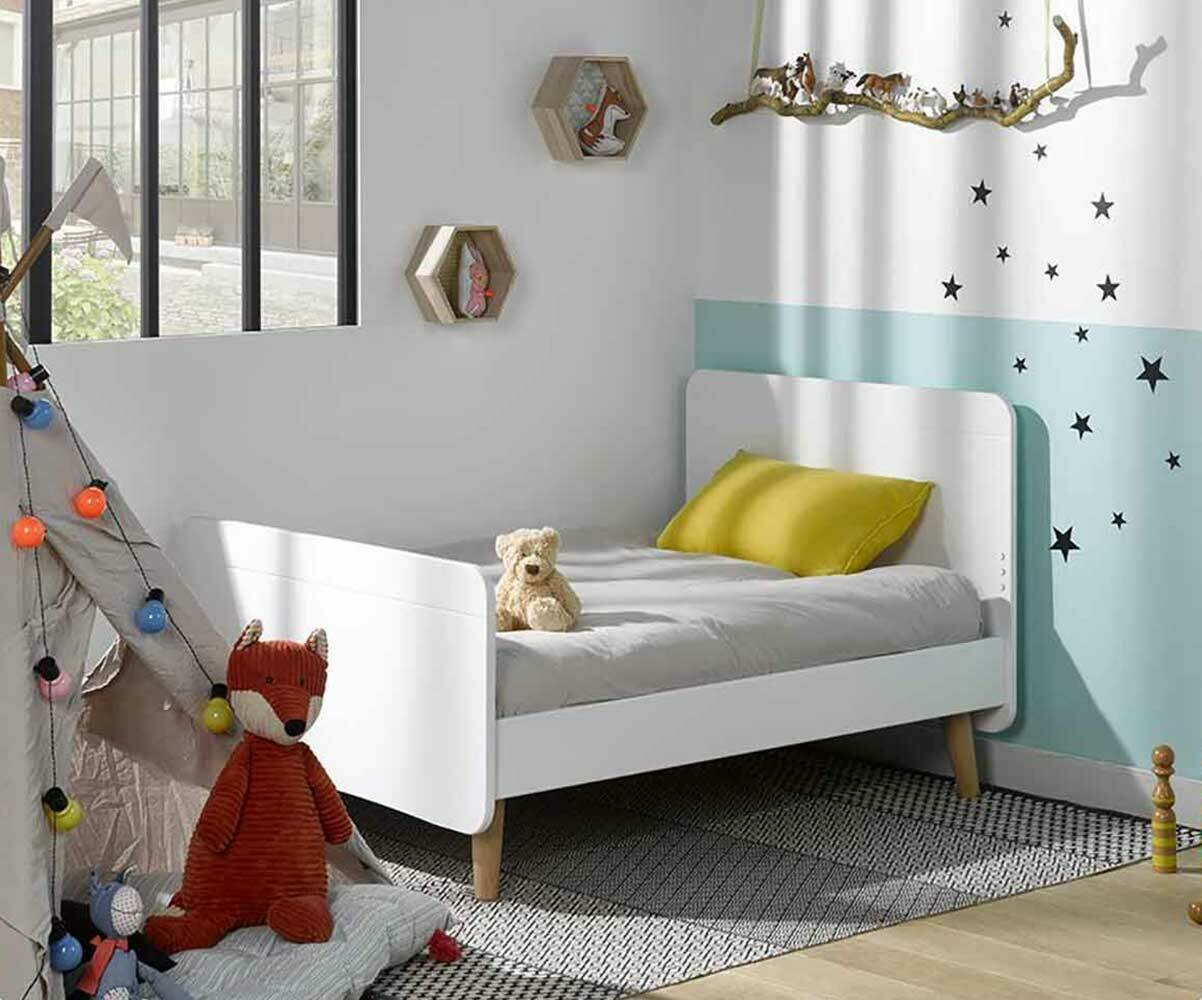 pack lit enfant volutif willow blanc avec pieds et matelas. Black Bedroom Furniture Sets. Home Design Ideas