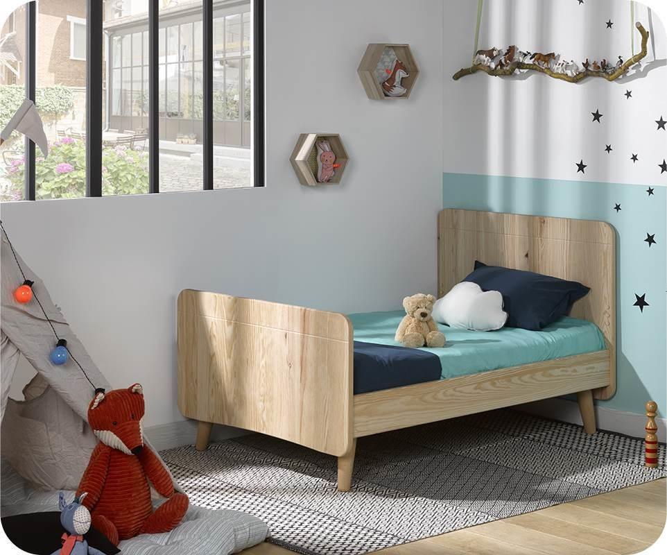 pack lit enfant volutif willow brut peindre avec pieds et matelas. Black Bedroom Furniture Sets. Home Design Ideas