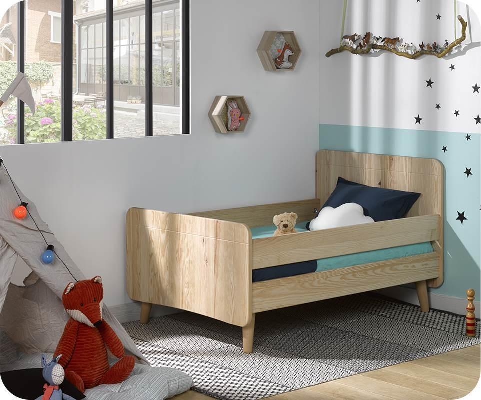 pack lit enfant volutif willow brut peindre avec pieds. Black Bedroom Furniture Sets. Home Design Ideas