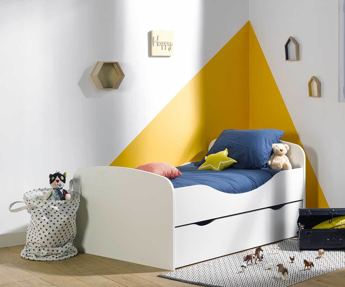 tiroir pour lit enfant evolutif oaki blanc. Black Bedroom Furniture Sets. Home Design Ideas