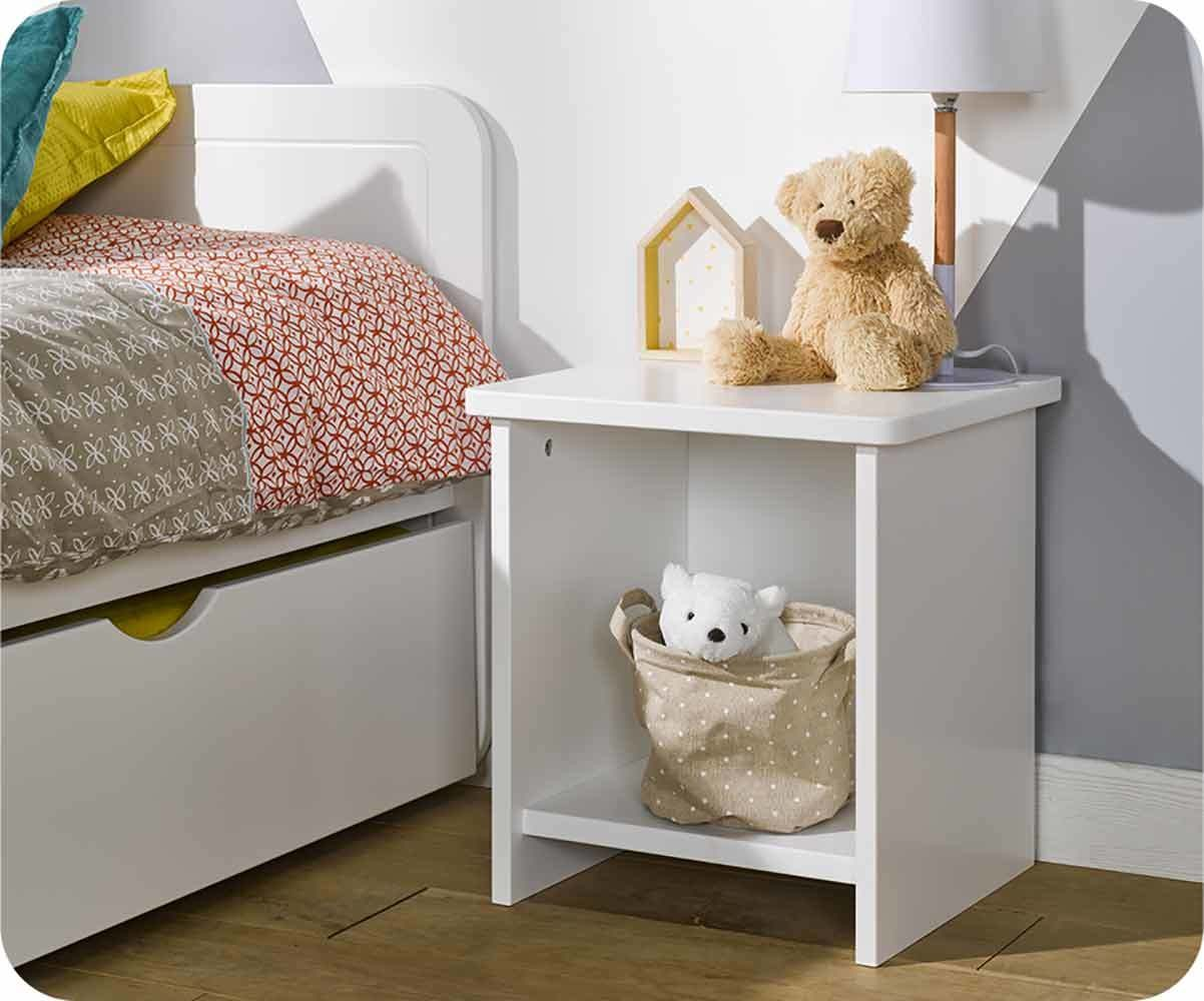 chevet enfant twist blanc. Black Bedroom Furniture Sets. Home Design Ideas