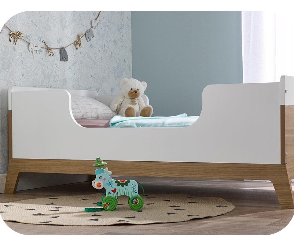 Chambre b b compl te aloa blanche et bois - Vente privee lit enfant ...