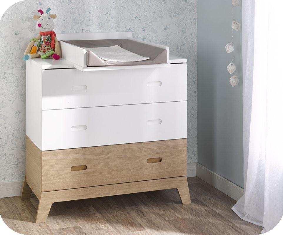 mini chambre b b aloa blanche et bois. Black Bedroom Furniture Sets. Home Design Ideas