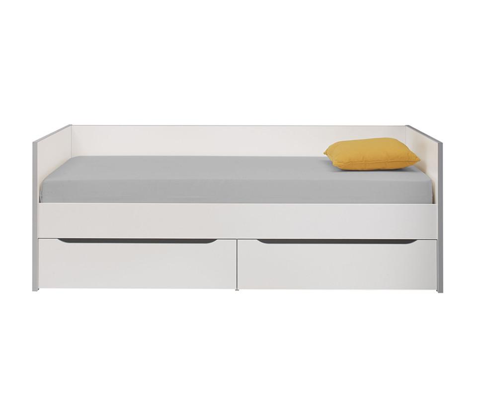 Lit banquette enfant tim o blanc et gris 90x200 cm - Chambre timeo ...