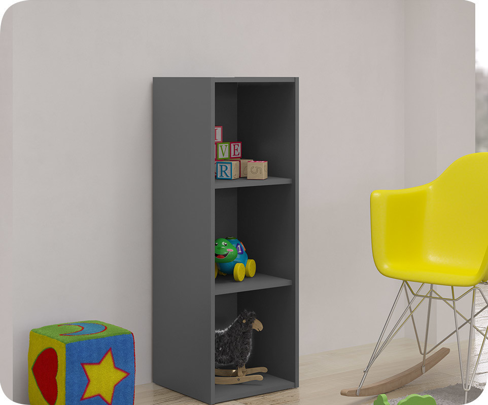 meuble de rangements moov 3 cases gris anthracite