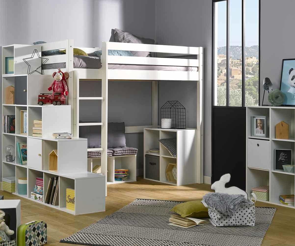 Lit Mezzanine Avec Rangement Pas Cher meuble de rangement 4 cases - moov