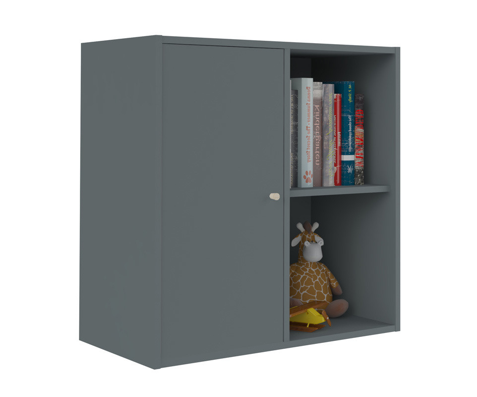 Meuble de rangements moov 4 cases gris anthracite for Meuble 4 cases