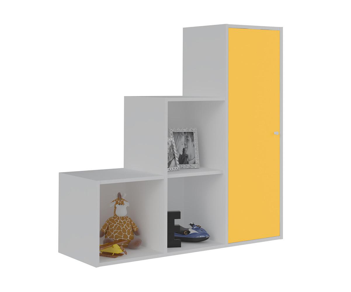 Meuble de rangement moov escalier blanche for Meuble rangement une porte