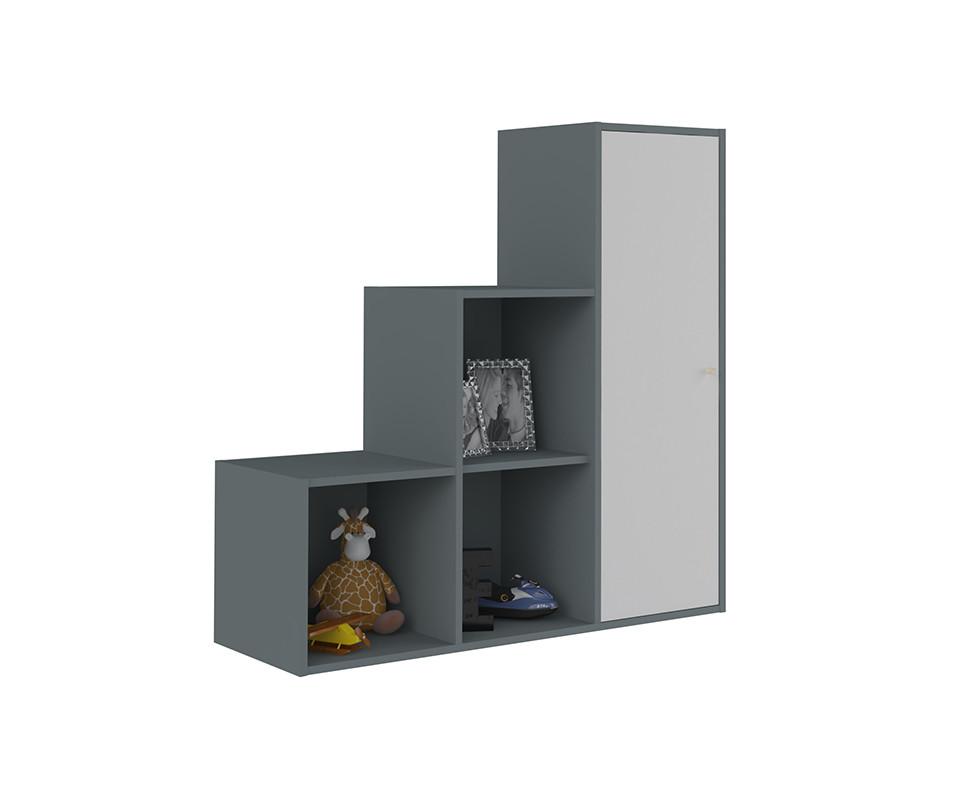 meuble de rangement moov escalier gris anthracite. Black Bedroom Furniture Sets. Home Design Ideas