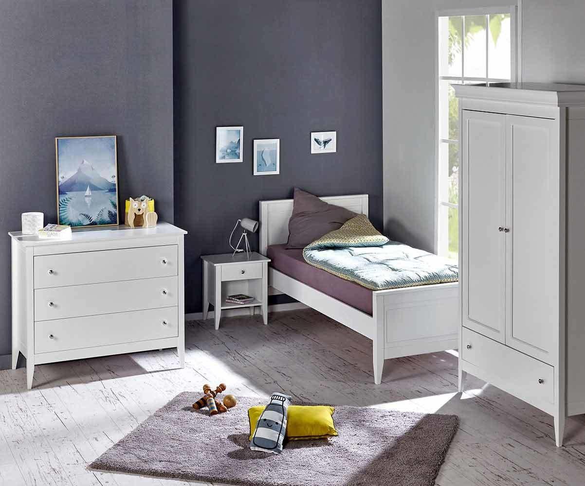 Chambre enfant Lou : lit,commode,armoire,chevet pour fille Et garçon.
