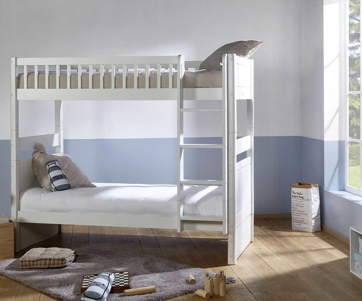 Chambre Matelas Au Sol lit enfant superposé évolutif couchage haut avec 2 matelas - rio