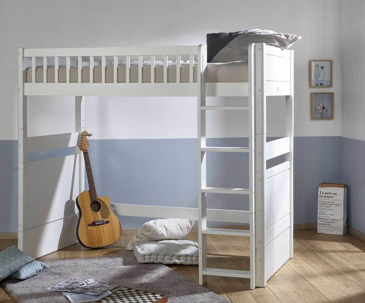 Aménagement Mezzanine Petit Espace lit enfant mezzanine évolutif avec matelas - rio