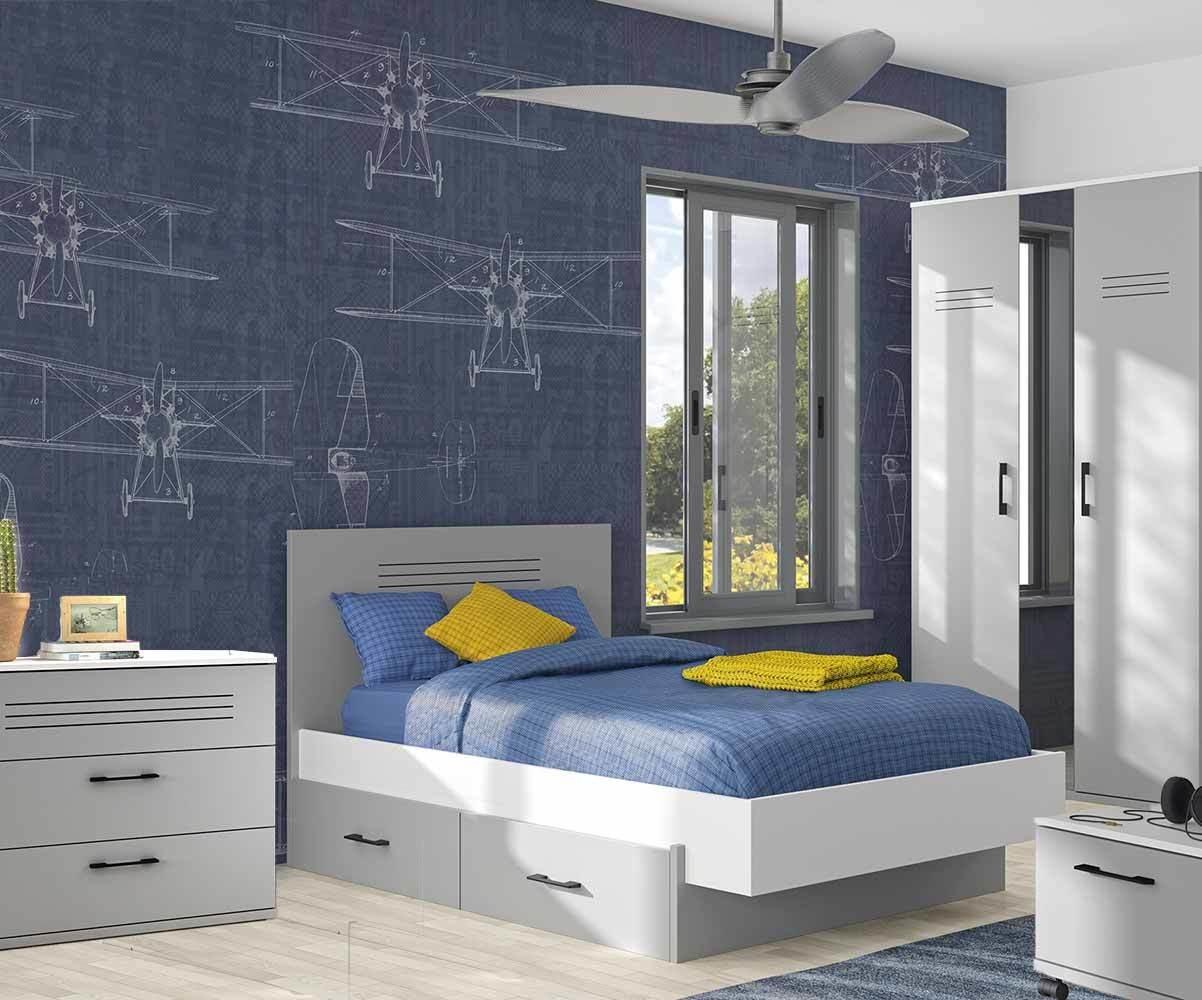 Partage Chambre Fille Garcon chambre enfant 5 meubles - ezio
