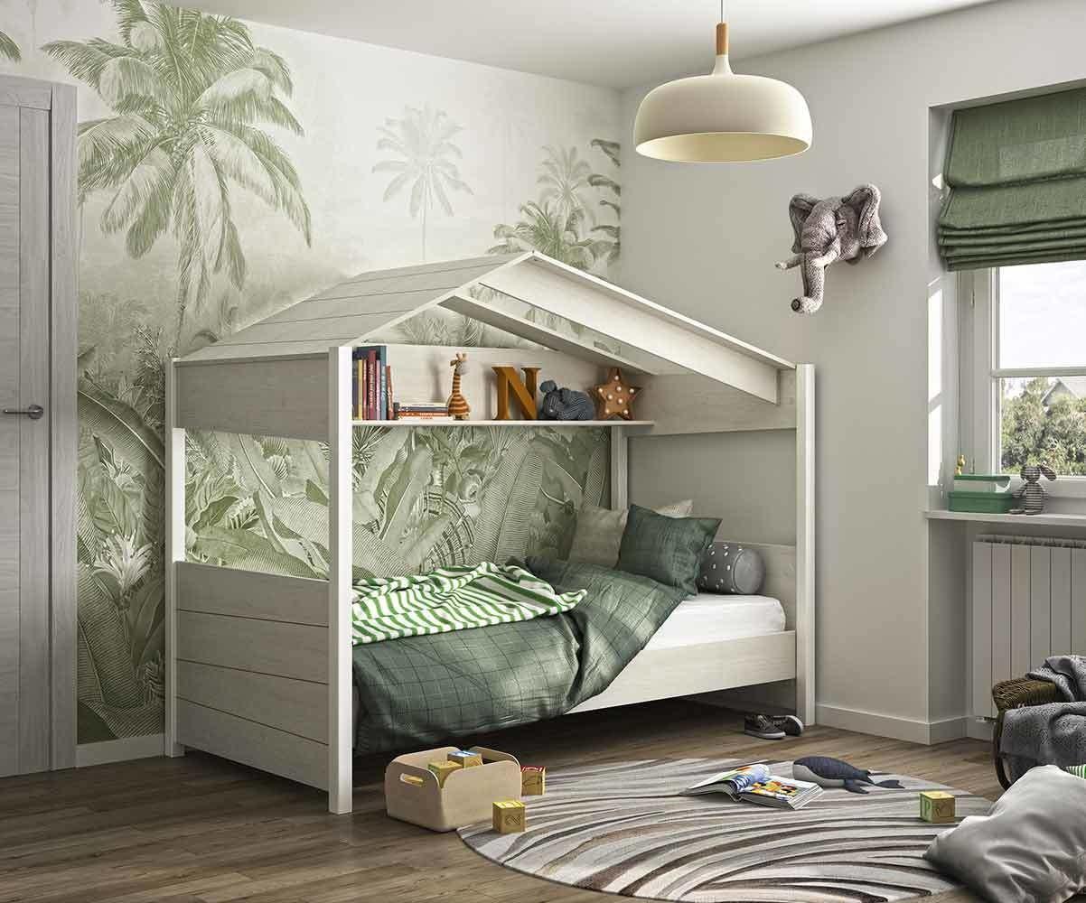 Chambre Lit Cabane Fille lit enfant cabane avec matelas - popi