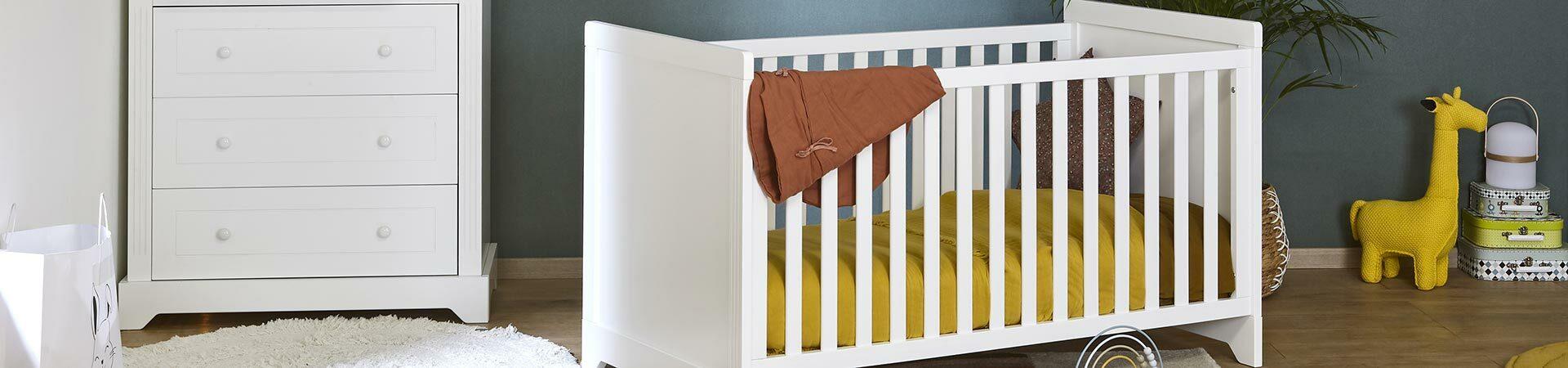 Chambre Bébé Complète, Commode et Armoire - Mobilier Écologique