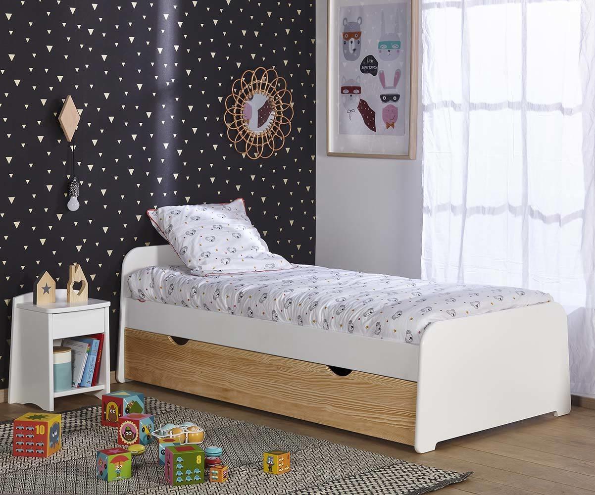 lit enfant gigogne eden couchage modulable d s 3 ans. Black Bedroom Furniture Sets. Home Design Ideas