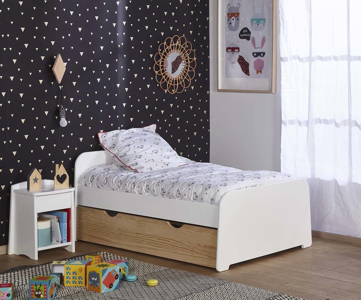 pack lit enfant volutif eden couchage complet en bois. Black Bedroom Furniture Sets. Home Design Ideas