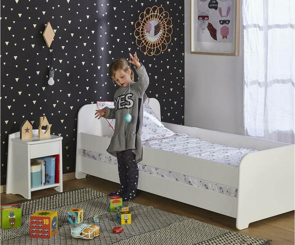 pack lit enfant volutif eden blanc avec matelas et tiroir. Black Bedroom Furniture Sets. Home Design Ideas