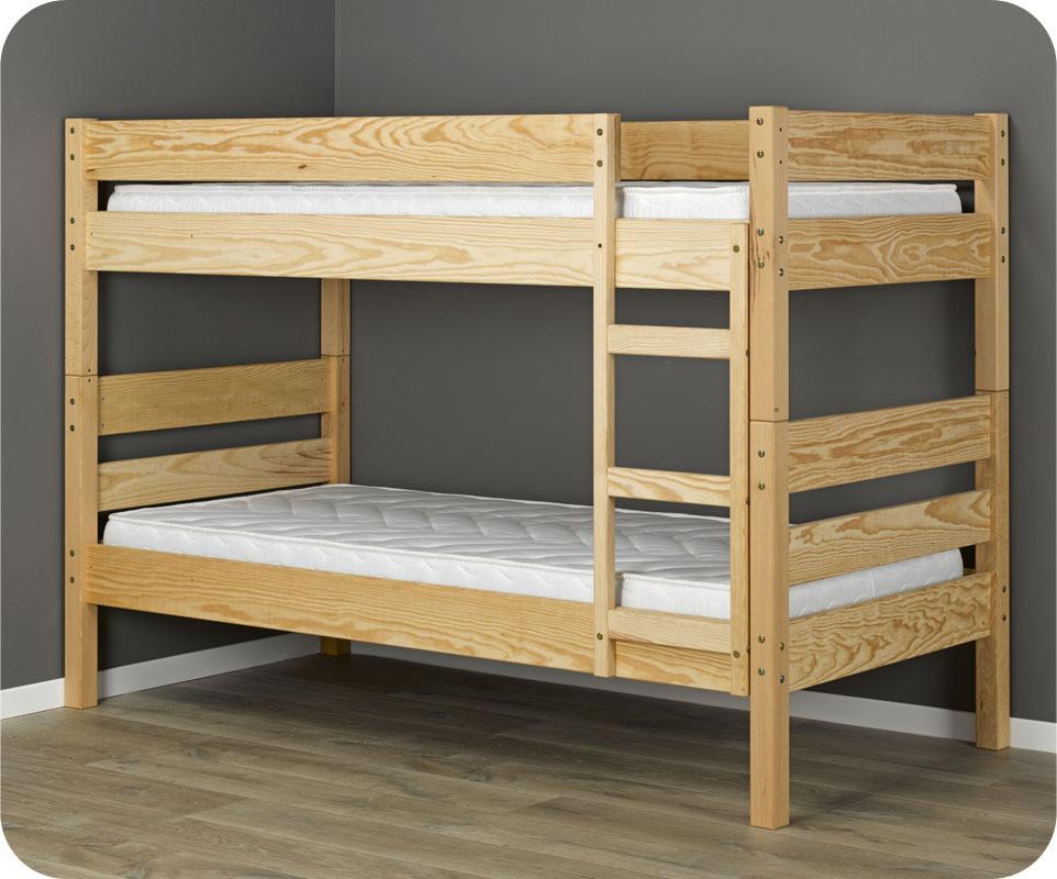 lit superpos enfant 1 2 3 brut peindre 90x190 cm. Black Bedroom Furniture Sets. Home Design Ideas