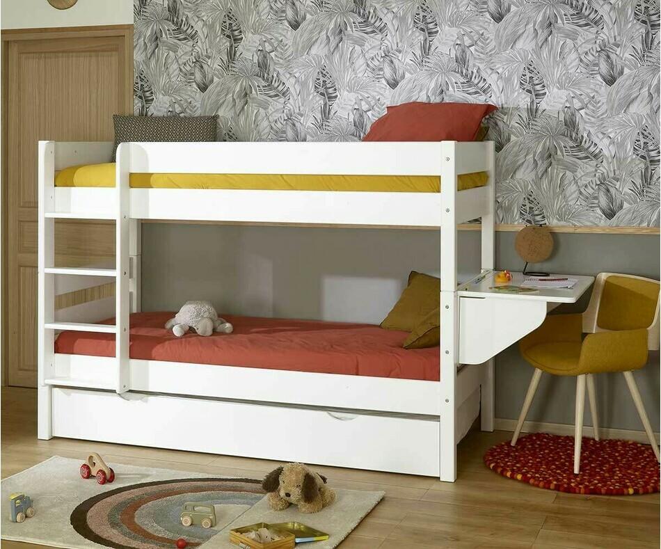 lit superpos 1 2 3 avec sommier gigogne 3 couchages en 1. Black Bedroom Furniture Sets. Home Design Ideas