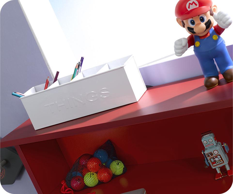 bureau enfant loft rouge com. Black Bedroom Furniture Sets. Home Design Ideas
