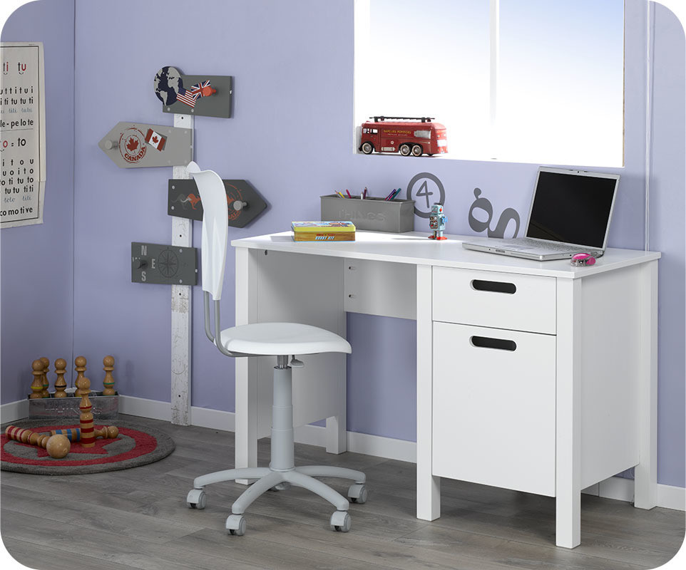 bureau enfant campus blanc com. Black Bedroom Furniture Sets. Home Design Ideas