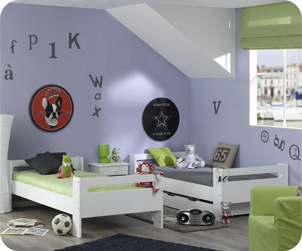 pack lit mezzanine enfant wax blanc. Black Bedroom Furniture Sets. Home Design Ideas
