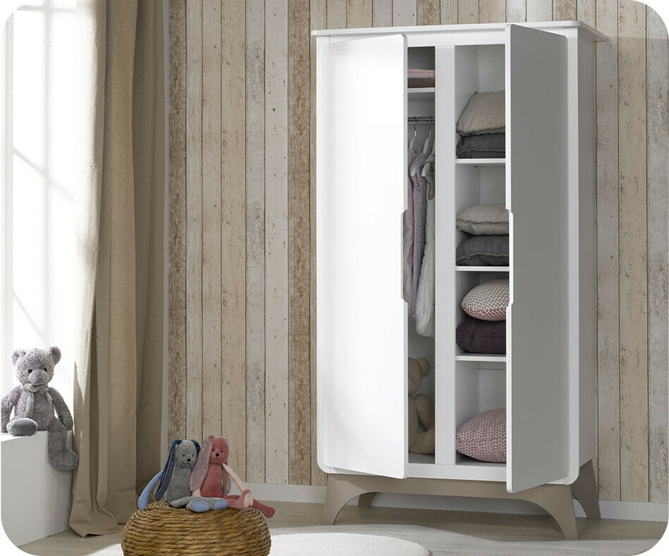 Armoire b b pepper blanche et lin achat armoire chambre - Code promo blanche porte 50 et port gratuit ...