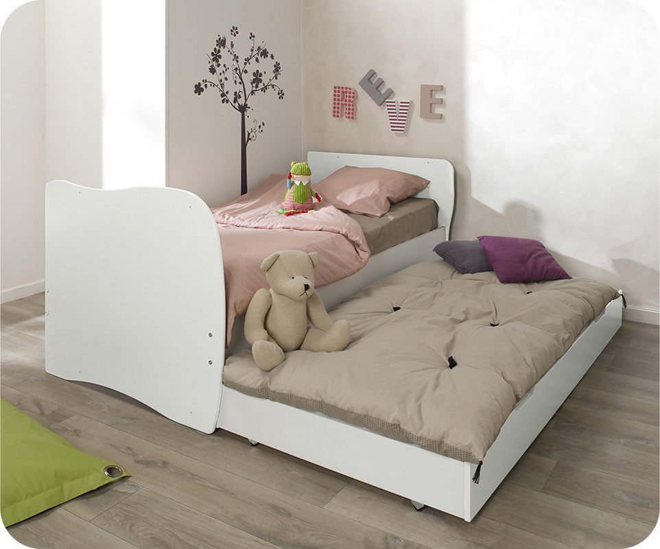 lit b b volutif jooly blanc avec matelas b b. Black Bedroom Furniture Sets. Home Design Ideas