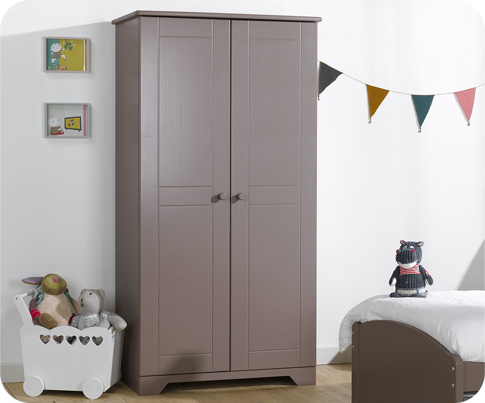 armoire enfant nature taupe mobilier de fabrication fran aise. Black Bedroom Furniture Sets. Home Design Ideas