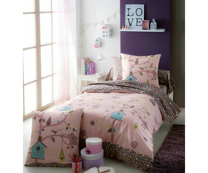 housse de couette fauvette 140x200 cm et sa taie. Black Bedroom Furniture Sets. Home Design Ideas