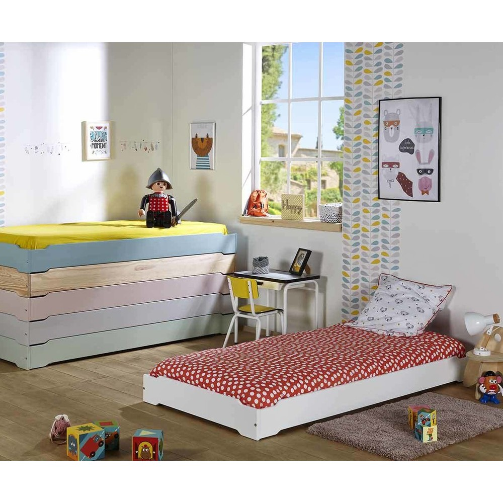 lit enfant empilable en bois massif fabriqu en france. Black Bedroom Furniture Sets. Home Design Ideas