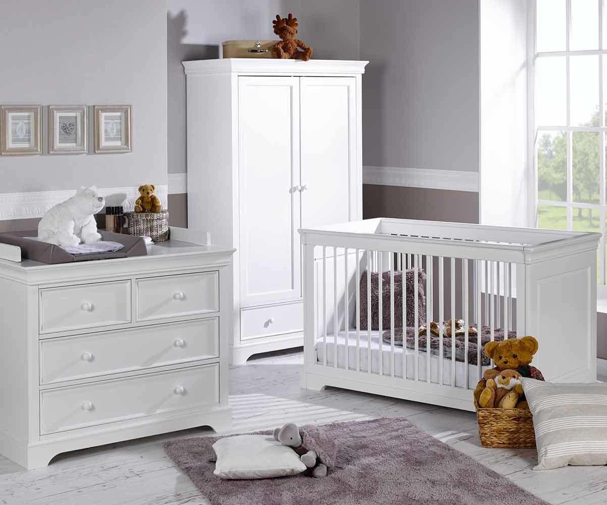Chambre Bébé Louis : Chambre bébé complète mel blanche avec armoire